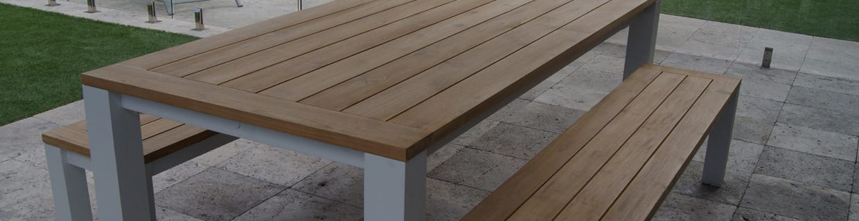 Teak And Aluminium Dining