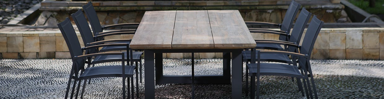 Natural Teak Outdoor Dining