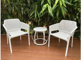 Bailey 3pc Balcony Setting with Purist Side Table