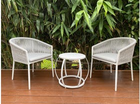 Gizella 3pc Balcony Setting with Purist Side Table