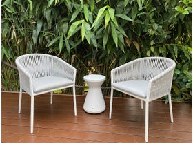 Gizella 3pc Balcony Setting with Solo Side Table