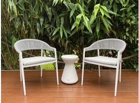 Nivala 3pc Balcony Setting with Solo Side Table