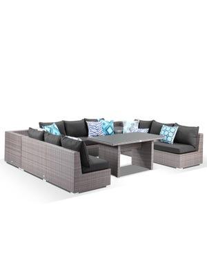 Como 9 Seater Outdoor Modular Lounge