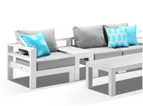 Aspen 5 Seater Outdoor Aluminium Lounge Setting