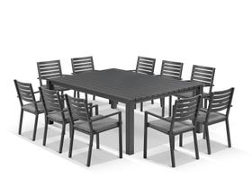 Adele Table with Mayfair Chairs 11pc Outdoor Dining Setting