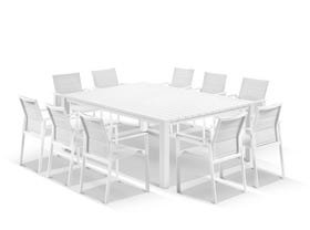 Adele Table with Meribel Chairs 11pc Outdoor Dining Setting