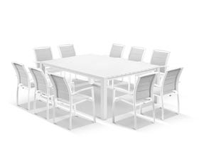 Adele Table with Verde Chairs 11pc Outdoor Dining Setting