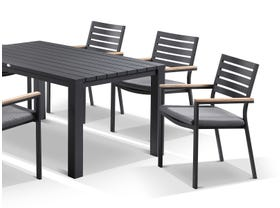 Adele table with Astra  Chairs 9pc Outdoor Dining Setting