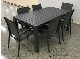 FLOOR MODEL- Adele table with Latina Chairs 7pc Outdoor Dining Setting