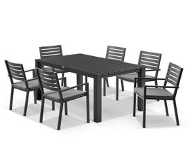 Adele Table With Mayfair Chairs 7pc Outdoor Dining Setting