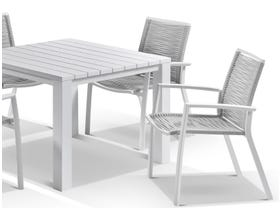 Adele table with Sevilla Rope Chairs 5pc Outdoor Dining Setting
