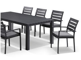 Adele table with Twain chairs  9pc Outdoor Dining Setting