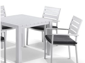 Adele table with Twain Chairs 5pc Outdoor Dining Setting