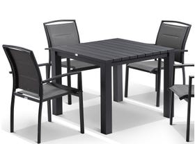 Adele table with Verde chairs  5pc Outdoor Setting