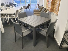 FLOOR MODEL -  Adele Table with Palmetto Chairs 5pc Outdoor Dining Setting