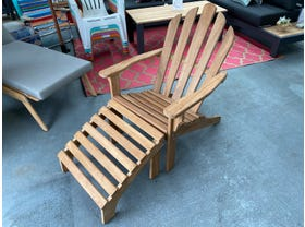 FLOOR MODEL- Adirondack Chair with Foot Stool