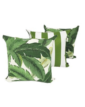 Aloha Palm Outdoor Cushions 3 Pack