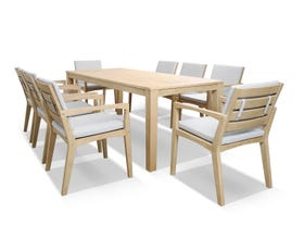 Ascot 9pc Outdoor Dining Set