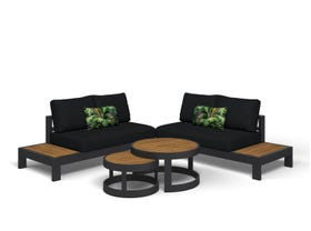 Aspen 4 Seater Outdoor Teak Platform Lounge Setting