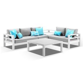 Aspen 5 Seater  Modular Lounge -White / Cast Slate