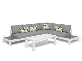 Aspen 6 Seater Outdoor Platform Lounge Setting