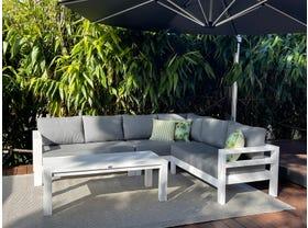 Aspen 6 Seater Outdoor Aluminium Modular Lounge Setting- NSW ONLY