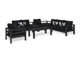 Aspen 7 Seater Outdoor Aluminium Modular Lounge Setting
