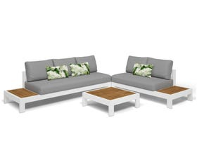Aspen 5 Seater Outdoor Teak Platform Lounge Setting