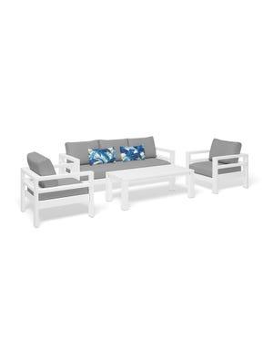 Aspen 4pc Outdoor Aluminium Lounge Setting