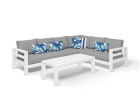 Aspen 6 Seater Outdoor Aluminium Modular Lounge Setting