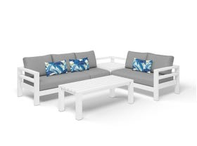 Aspen 5 Seater Outdoor Aluminium Modular Lounge Setting