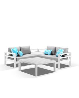 Aspen 4pc Modular -White / Cast Slate