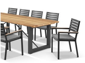 Laguna Table with Astra Chairs 11pc Outdoor Dining Setting