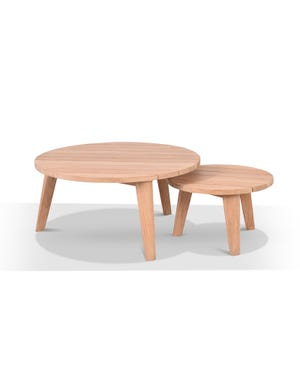Atoll Outdoor Round Coffee Table Set