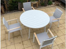 Avignon Table with Triana Chairs 5pc Outdoor Dining Setting- NSW ONLY