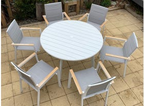 Avignon Table with Triana Chairs 7pc Outdoor Dining Setting- NSW ONLY