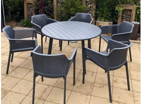 Avignon Table with Bailey Chairs 7pc Outdoor Dining Setting- NSW ONLY
