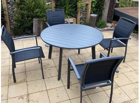 Avignon Table with Verde Chairs 5pc Outdoor Dining Setting- NSW ONLY