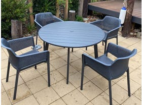 Avignon Table with Bailey Chairs 5pc Outdoor Dining Setting- NSW ONLY