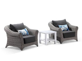 Versailles 3pc Outdoor Balcony Setting with Adele Side Table