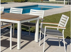 Barcelona Table with Astra Chairs 9pc Outdoor Dining Setting