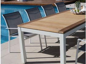 Barcelona Table with Crudo Chairs 9pc Outdoor Dining Setting
