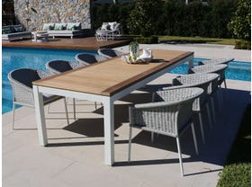 Barcelona Table with Isla Chairs 9pc Outdoor Dining Setting