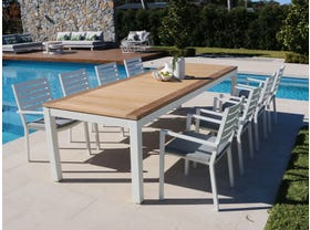 Barcelona Table with Mayfair Chairs 9pc Outdoor Dining Setting