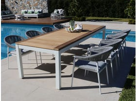 Barcelona Table with Nivala Chairs 9pc Outdoor Dining Setting
