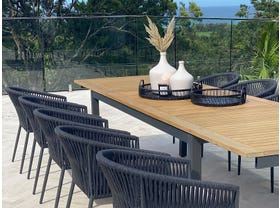 Barcelona Extension Table with Gizella Chairs 11pc Outdoor Dining Setting