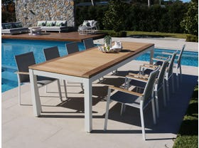 Barcelona Table with Triana Chairs 9pc Outdoor Dining Setting