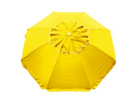 Beachcomber Beach Umbrella - Yellow -MELB ONLY