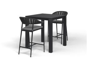 Adele Bar Table with Nivala Bar Chairs -3pc Outdoor Bar Setting