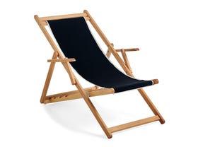 Beppi Sling Deck Chair -Black